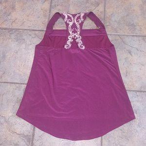 Like new beaded burgundy tank top